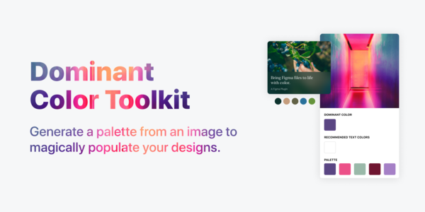Dominant Color Toolkit — Figma plugin to generate a color palette from an image