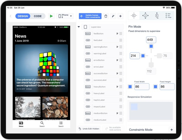 Kodika.io — Build iOS apps with Drag & Drop