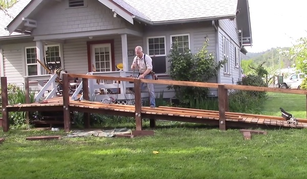 Scott waxes poetic while building an access ramp for his mother.