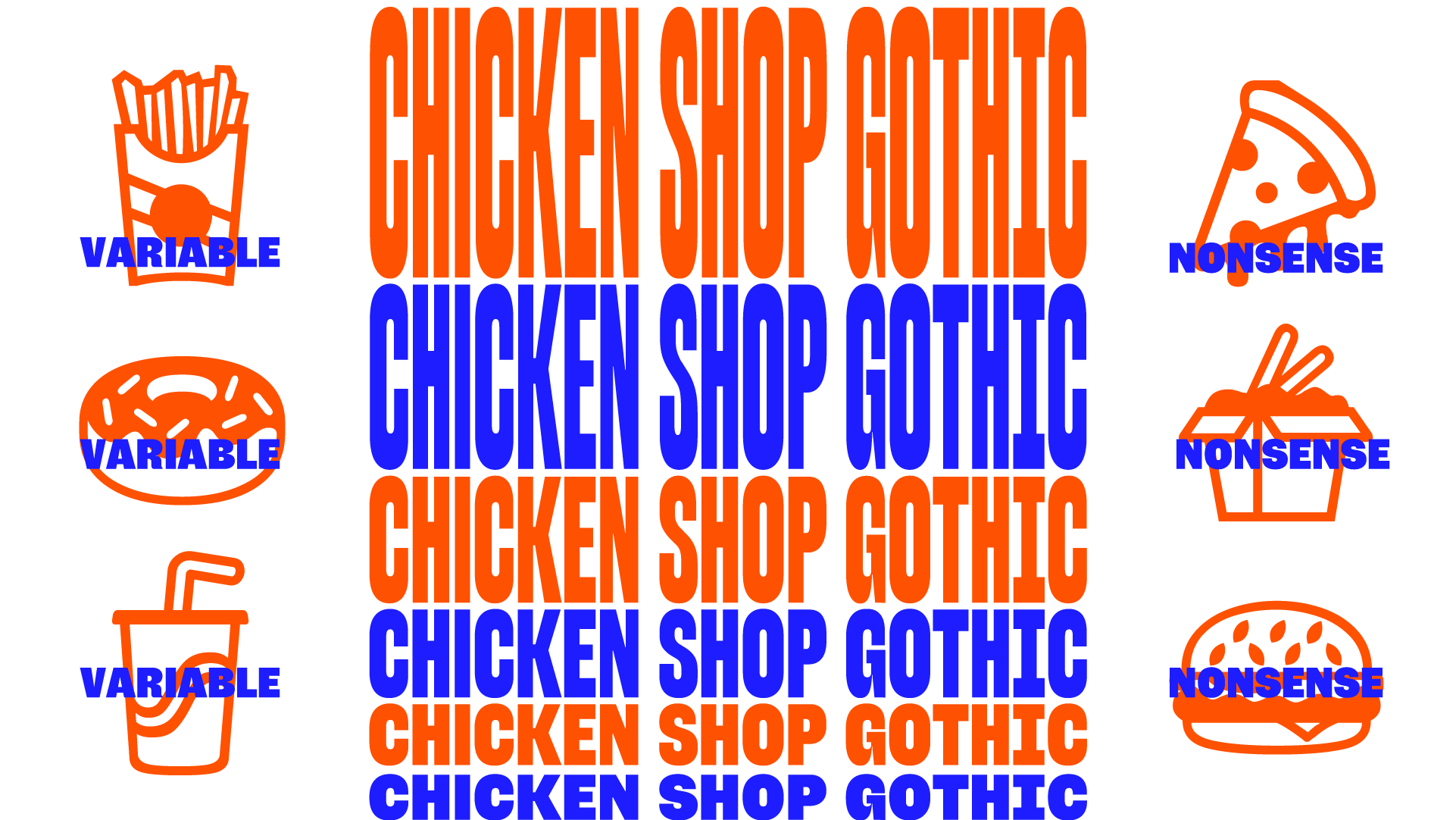 Chicken Shop Gothic, a variable font with a height axis ↕️
