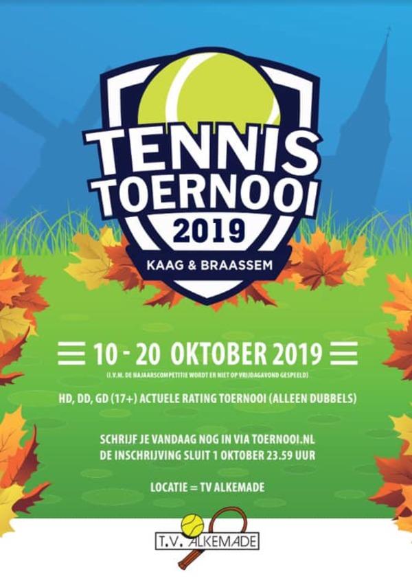 Inschrijving K&B tennistoernooi 2019 geopend