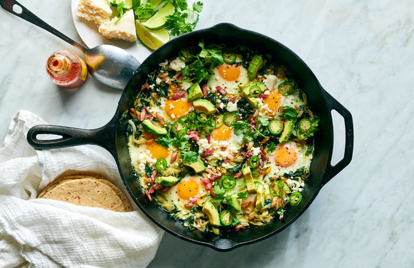 Green Shakshuka With Avocado and Lime Recipe - NYT Cooking