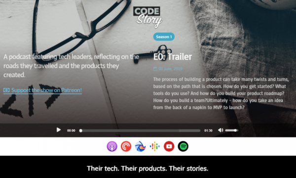 Code Story: A Podcast Platform Where Entrepreneurs share their Real Stories