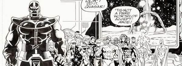 Ron Lim - Infinity War Original Comic Art