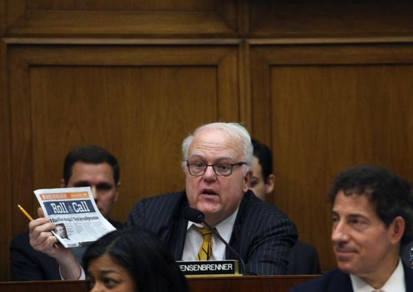 De Republikeinse oudgediende Jim Sensenbrenner kondigde deze week zijn pensioen aan (foto: Reuters)