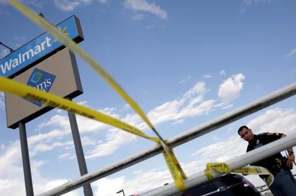 Een Walmart in El Paso was begin augustus toneel van een bloedbad waarbij 22 doden vielen (foto: Reuters)