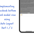 Replicating Facebook's Draggable Bottom Card Using Auto Layout