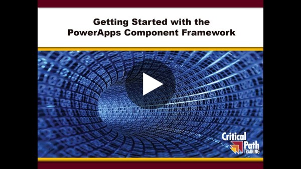 Getting Started with the PowerApps Component Framework