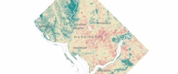 NYT-style urban heat island maps