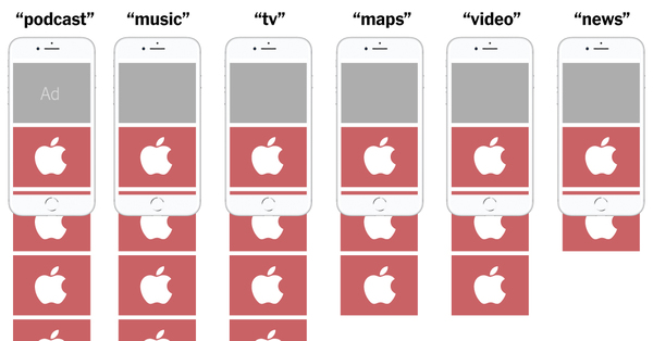 How Apple's Apps Topped Rivals in the App Store It Controls