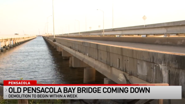 FDOT: Old Pensacola Bay Bridge to be demolished within a week