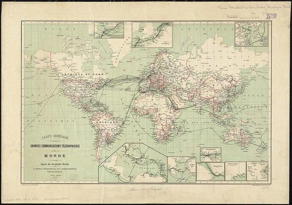 Weltweite Telegrafenleitungen 1901 (CC BY 2.0)