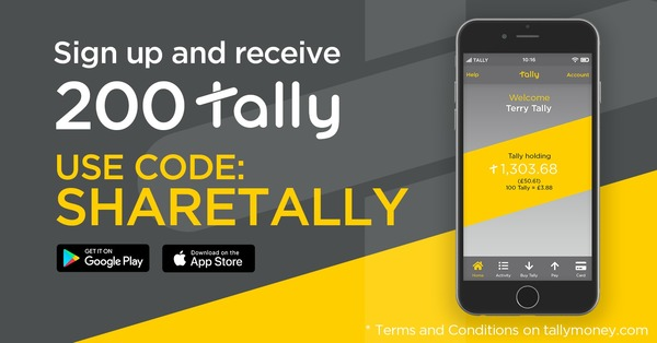Use Code SHARETALLY to received 200 Tally Free - https://www.tallymoney.com/