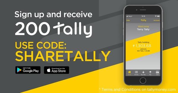 Use Code SHARETALLY to received 200 Tally Free - https://www.tallymoney.com/