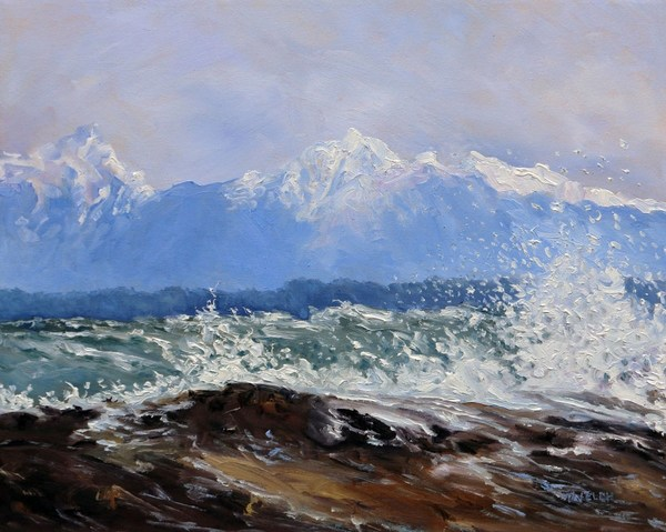 West Coast Moment by Terrill Welch oil on canvas 16 x 20 Inches