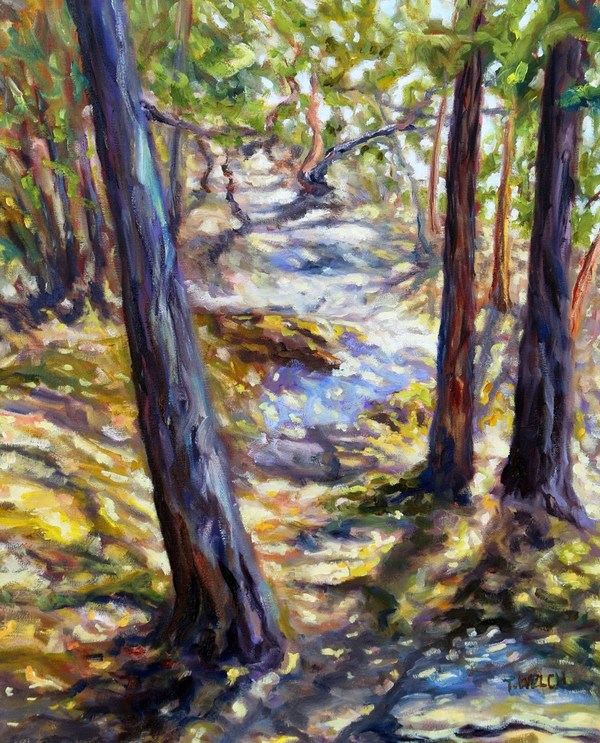 Trees I Truly See You by Terrill Welch oil on canvas 20 x 16 Inches