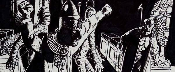 Richard Corben - Hellboy Original Comic Art