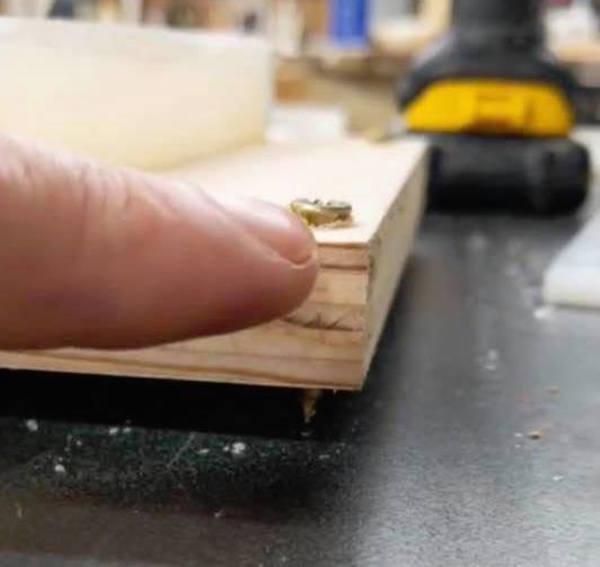 Use screws to accurately level a casting pour.