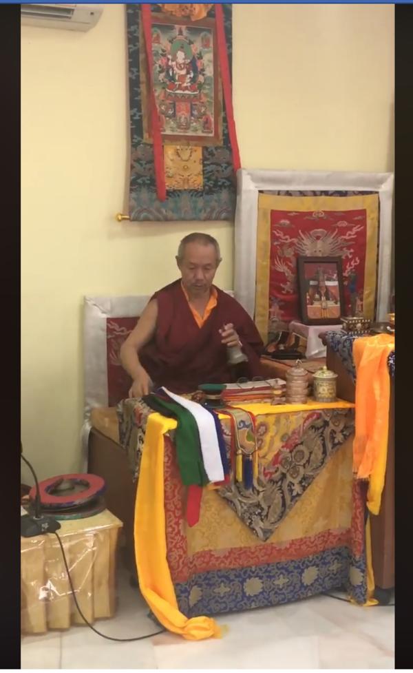 Tulku Jampa Dorje at Ka-nying Ling Dharma Society Kuala Lumpur Centre
