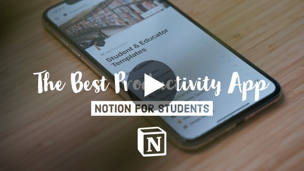 My Favourite Productivity App for Students - Notion (2019)