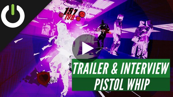 Our friends at UploadVR show off Pistol Whip -- and have a short, exclusive interview with developer Cloudhead Games.