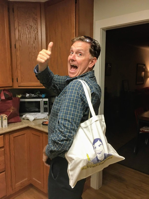 Loyal reader Dan(tastic) is ecstatic that he is the proud owner of a limited-edition Highlighter tote bag (now out of stock). There's a rumor that T-shirts are coming soon! highlighter.cc/store