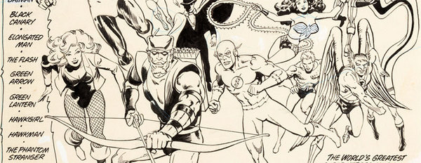 Rich Buckler - JLA Original Comic Art