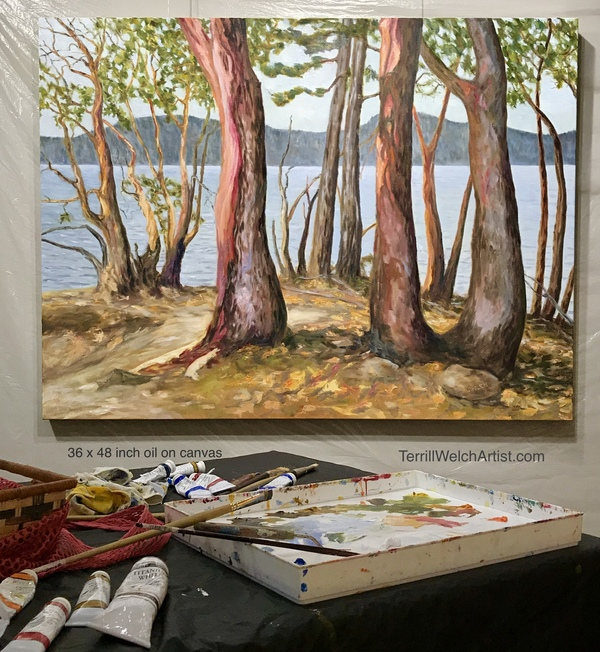 """Arbutus Trees At The End of The Trail"" by Terrill Welch"