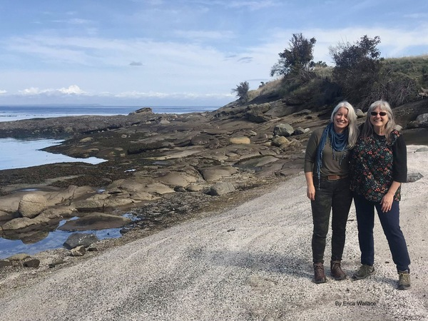 Sue Wiebe and Terrill Welch at East Point on Saturna Island.