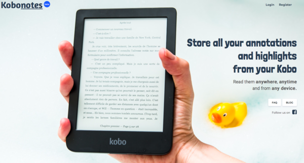 Kobonotes: Store all your annotations and highlights from your Kobo