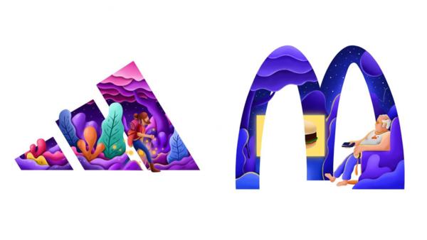 Il transforme les logos célèbres en illustrations créatives pour leur donner encore plus de sens
