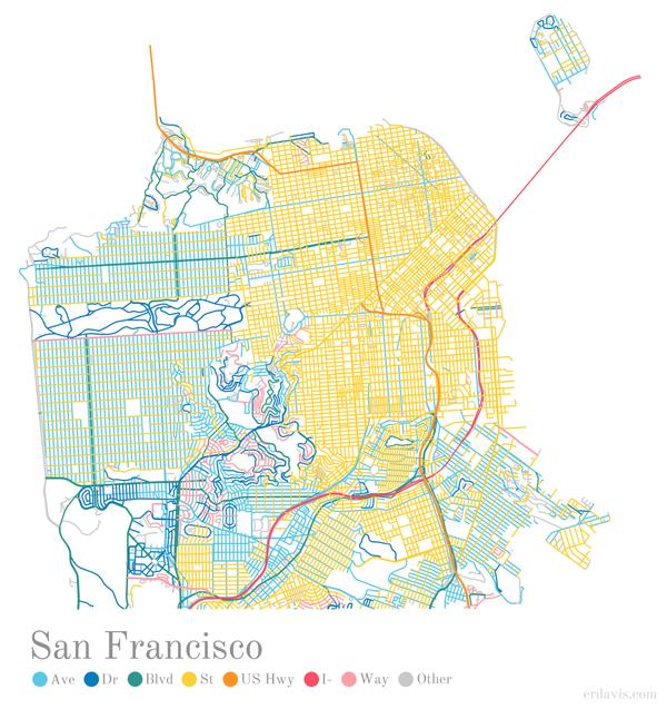 Diese Karten zeigen die versteckte Logik von Straßennamen in den USA