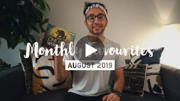 August 2019 Favourites - Ali Abdaal || Monthly Favorites