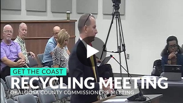 Okaloosa County Commissioners vote on the state of recycling