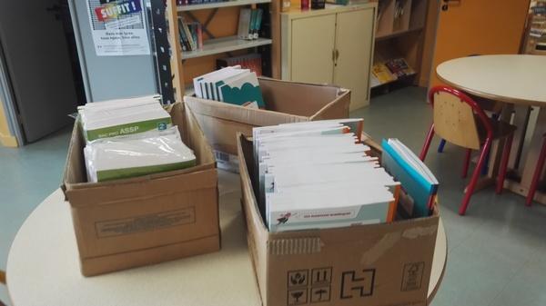 Les manuels commandés par plusieurs professeurs sont arrivés !