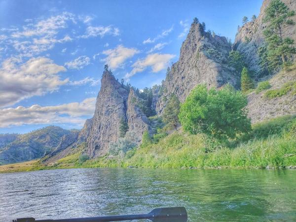 Rafting on the Missouri River in Montana