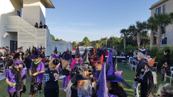The Witches are riding again to support CVHN on Halloween with their 16th Witch Ride