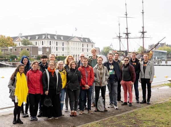 De aanwezigen op IndieWebCamp Amsterdam 2019