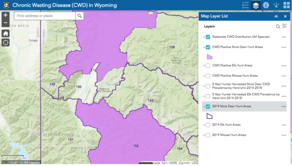 Chronic wasting disease reaches Wyoming Range