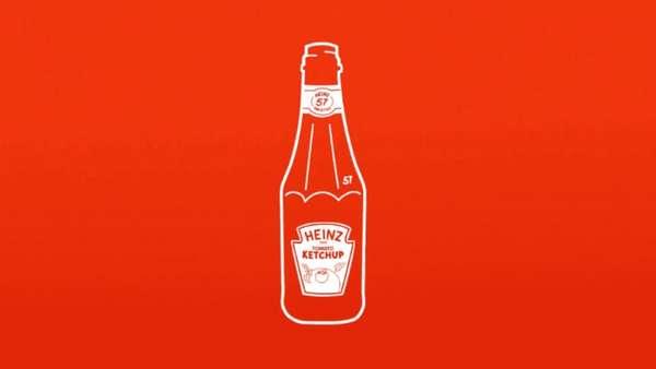 Ein neues Ketchup-Etikett soll zeigen, wie man die Flasche halten muss