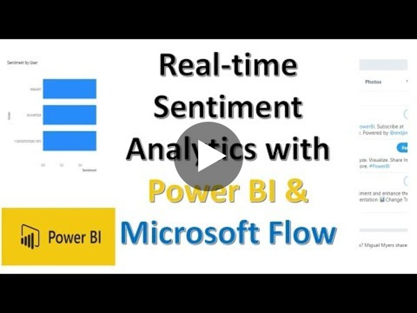 Power BI - Real-time Sentiment Analytics with Microsoft Flow | Twitter Sentiment Analytics