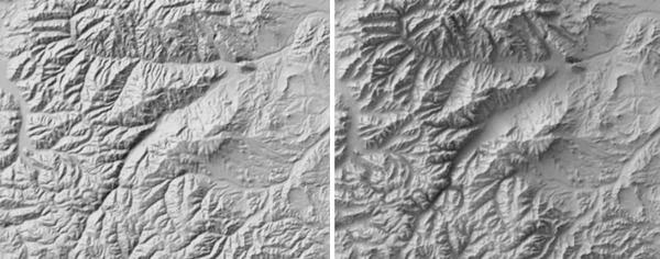 Creating shaded relief in Blender 2.8