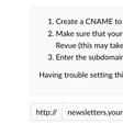 Set up a custom domain on Revue