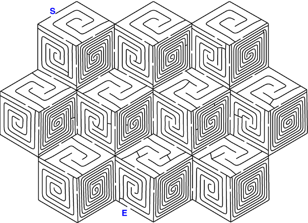 Producing mazes by computer