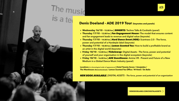 Denis Doeland Keynotes, talks and panels - Amsterdam Dance Event 2019