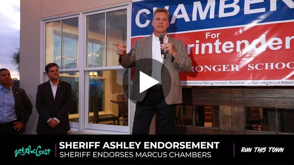 Sheriff Ashley endorses Marcus Chambers for Superintendent of Schools