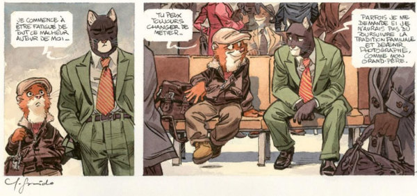 Juanjo Guarnido - Blacksad Original Comic Art