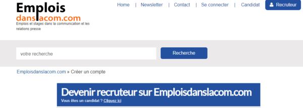 Diffuser gratuitement une offre d'emploi ou de stage sur Emploisdanslacom.com