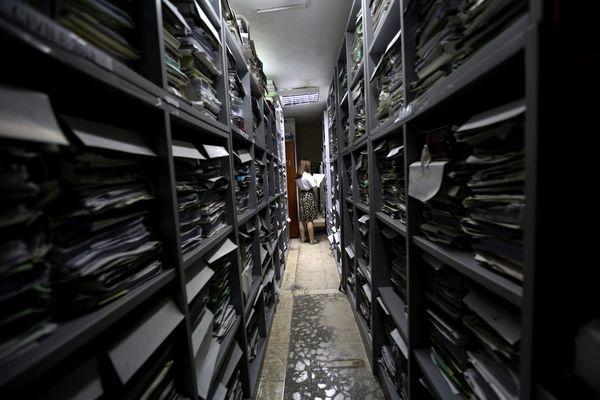 Het archief in Tirana bij de Hoge Raad