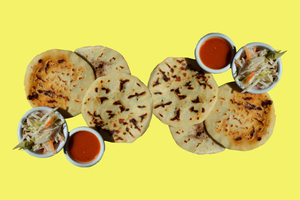 Click on the photo. WAMU 88.5 radio station talks about the history of pupusas and how the Salvadoran and Mexican cuisines came to be served together in Washington D.C. restaurants.